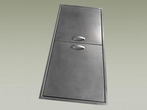 Cassetti e ante per cucine lavorazioni acciaio inox ottone rame corten bronzo e peltro su - Cassetti per cucine in muratura ...