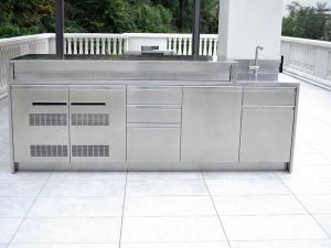 Cucine da giardino e da esterno in acciaio inox su misura ...