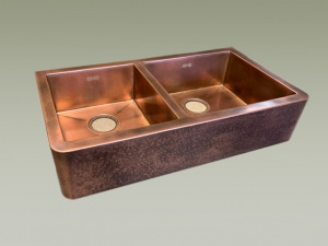 lavelli cucina rame due vasche