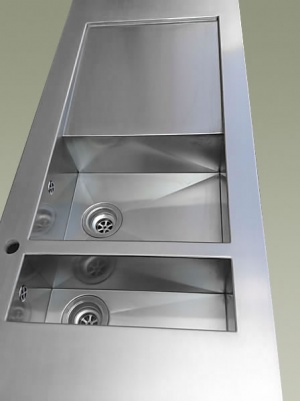 Piani cucina in acciaio inox top cucina corten e rame su misura top cucina personalizzati a - Top cucina acciaio inox prezzo ...