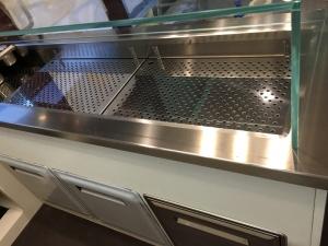 Vasca refrigerata con vetrina